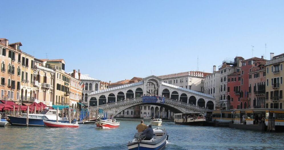 Venice Grand Canal Rialto Bridge